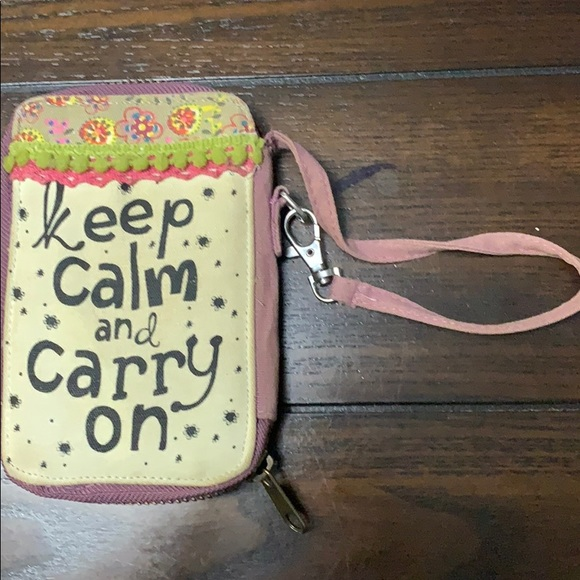 Handbags - Nature life wristlit phone and wallet
